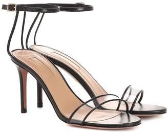 Aquazzura Minimalist 85 leather sandals