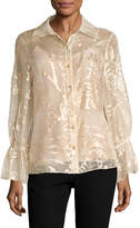 Oscar de la Renta Women's Ruffled Sleeves Blouse
