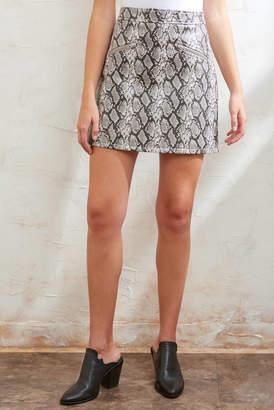 Blank NYC Vegan Snake Mini Skirt Multi 24