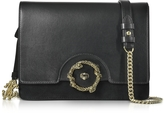 Roberto Cavalli Genuine Leather and Suede Shoulder Bag