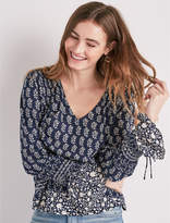 Lucky Brand Long Sleeve Printed Top