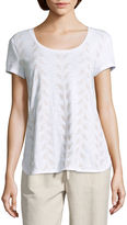 Liz Claiborne Short Sleeve Round Neck T-Shirt