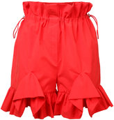 Goen.J - ruffle trim shorts - women - Cotton/Nylon - S