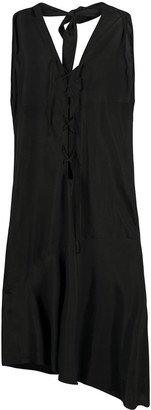Romeo Gigli Pre Owned 1990s Lace-Up Asymmetric Dress