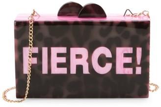 Bari Lynn Fierce Leopard Print Box Bag