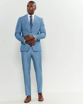 Michael Kors Two-Piece Light Blue Linen Suit
