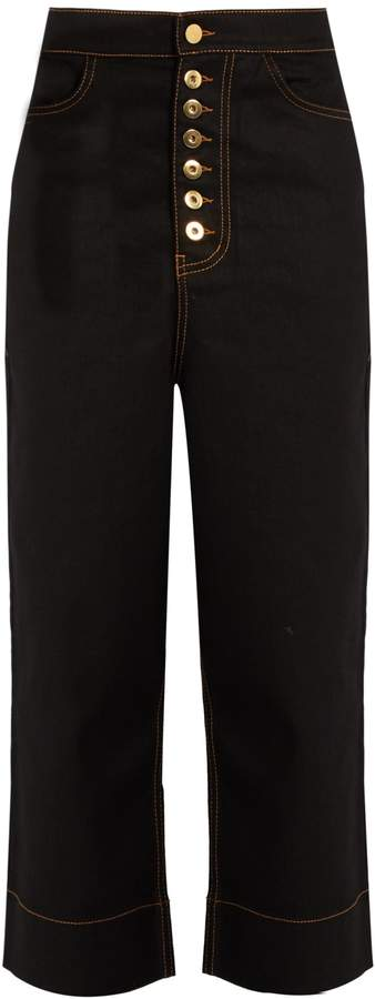 Ellery Maggier high-rise wide-leg cropped jeans