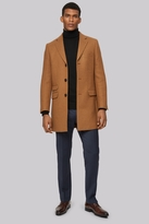 Moss Bros Camel Double Face Overcoat