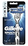 Gillette Mach3 Turbo Razor with 1 Razor Blade Refills, Mens Razors / Blades