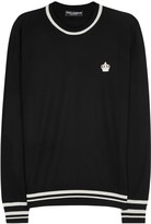 Dolce & Gabbana Black Embroidered Wool Jumper