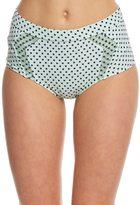 Betsey Johnson Duo Dot High Waist Bikini Bottom 8157035