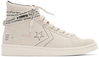 Converse Off-White Pro Leather High-Top Sneakers