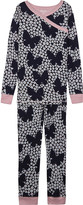 Hatley Butterfly and buds floral print organic cotton pyjamas 4-12 years