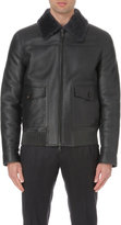 Brioni Aviator Shearling And Leather Jacket