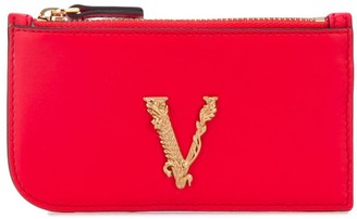 Versace Virtus zip cardholder