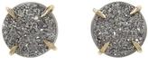Melissa Joy Manning Silver Mist Druzy Stud Earrings
