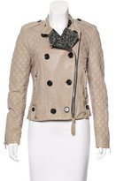 Barbara Bui Quilted Leather Jacket