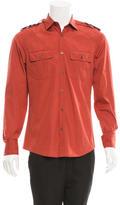 Gucci Long Sleeve Military Shirt