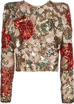 Sequined silk-organza jacket