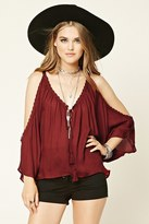 Forever 21 FOREVER 21+ Crochet Open-Shoulder Top