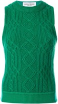 Marine Serre cable-knit tank top