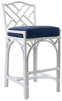 The Well Appointed House Chippendale Outdoor Counter Stool in White