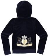 Juicy Couture Girls Logo Velour Royal Scotties Robertson Jacket