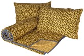Karma Living Luminescence Quilt with 2 Shams - Brown/Yellow