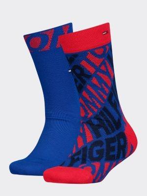 Tommy Hilfiger 2-Pack Kids' Repeat Logo Socks