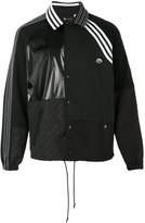 Adidas Originals By Alexander Wang - contrasting panel logo jacket - unisex - Cotton/Nylon/Polyester - XS