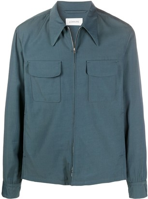 Lemaire Pointed-Collar Shirt Jacket