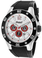 Ingersoll 3221WH Men's Brazos Auto Limited Edition Black Rubber White Dial