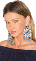 Mercedes Salazar X REVOLVE Aretes Fiesta Blue Mandala Earring in Blue & Grey in Blue.