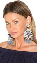 Mercedes Salazar X REVOLVE Aretes Fiesta Blue Mandala Earring