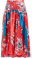 Roksanda Zelma Floral-print Silk Skirt - Womens - Pink Print