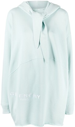 Givenchy Knot-Detail Hooded Jumper Dress