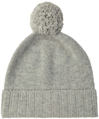 Johnstons of Elgin Cashmere Pom Pom Hat Silver