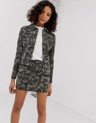 Noisy May camo print jacket-Green