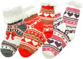 Angelina Winter-Weight Sherpa-lined Knitted Thermal Crew Socks, _N_3_9-11