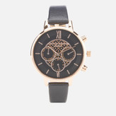 Olivia Burton Women's Big Dial Chrono Watch - Black