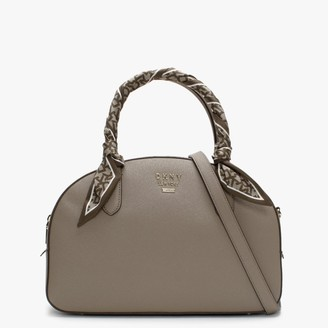 DKNY Liza Soft Clay Leather Dome Satchel Bag