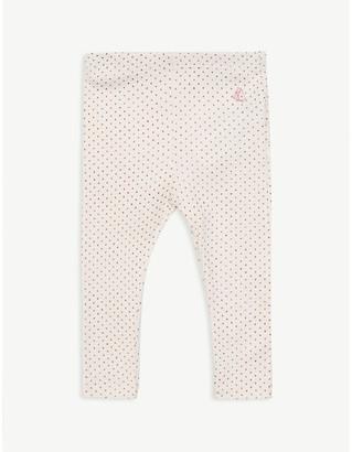 Petit Bateau Cotton polka dot leggings 6-36 months