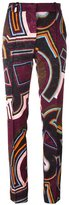 Emilio Pucci printed straight trousers - women - Cotton/Acetate/Viscose - 44