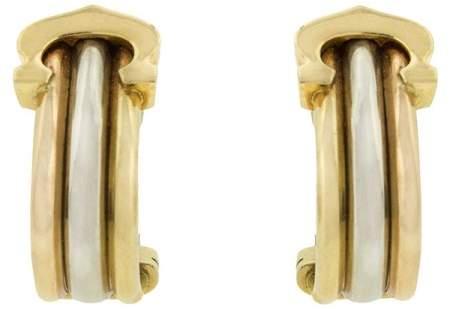 Cartier Trinity 18k Gold Huggie Earrings