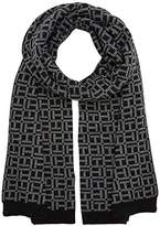 Tommy Hilfiger Women's TH Monogram Knit Scarf