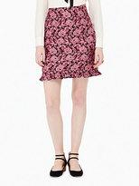Kate Spade Rose textured ruffle skirt