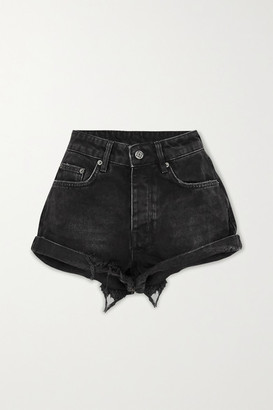 Ksubi Rolling Out Distressed Denim Shorts