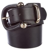 Burberry Wide Leather Belt