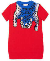 Gucci Children's merino dress with tiger
