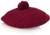 Gucci Crocheted Cotton Beret - Claret